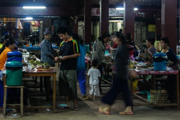 Inside of the night market