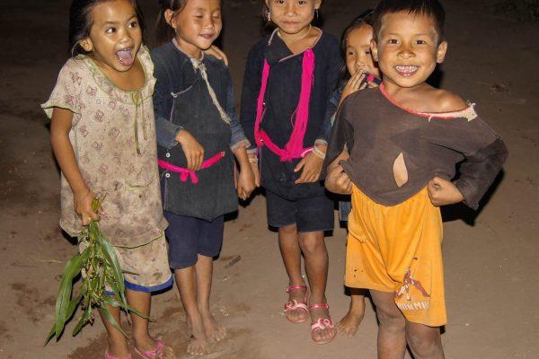 Local children from a minority village