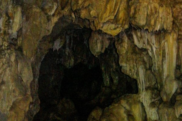 Inside one of the caves