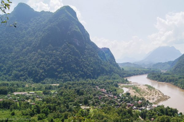 View over Muang Ngoi from the top of the hill