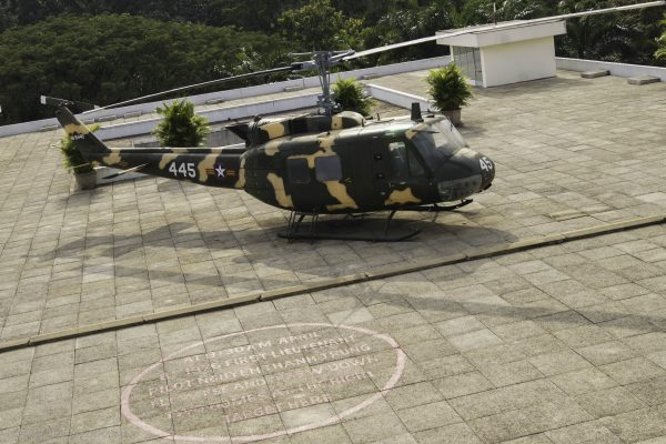 Helicopter pad - and the location of a bomb dropped