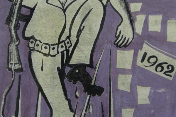 Propaganda poster from the war