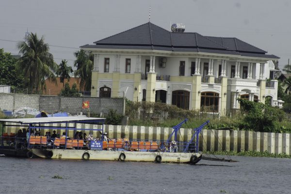The ferry to cross the river