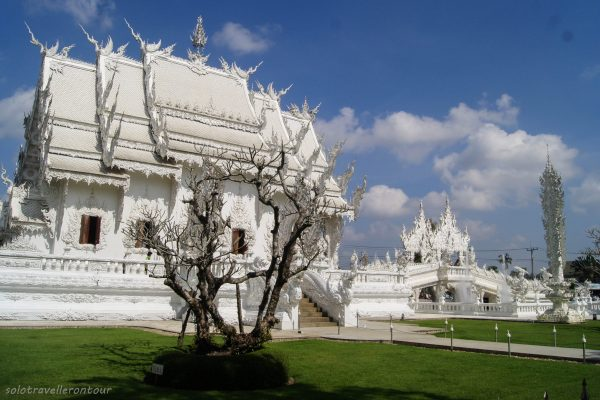 Side view of Wat Rong Khun