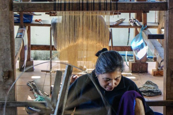 Another weaving shop in the village