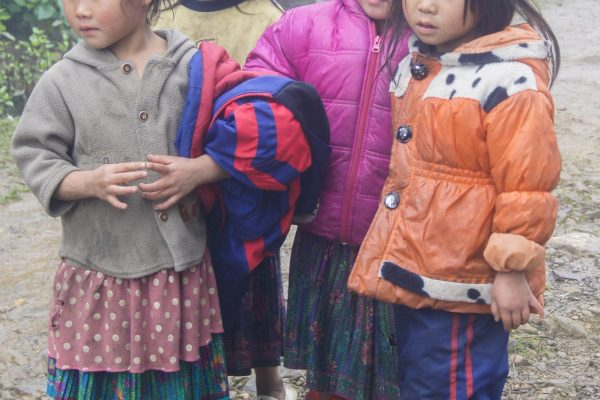 Some of the local kids eyeing us curiously