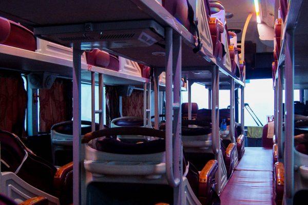 Seat arrangement in a nightbus