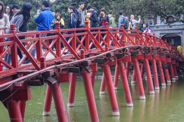The red bridge at Hoam Kiem Lake