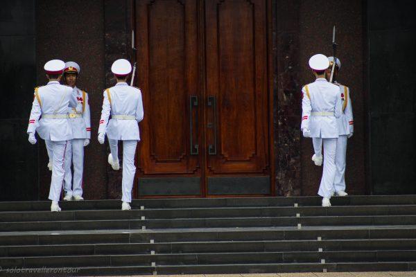 Guard change at the mausoleum