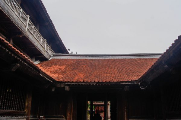 Beautiful building inside the Temple of Literature