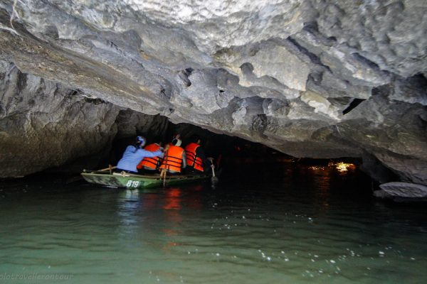 The entrance of the cave