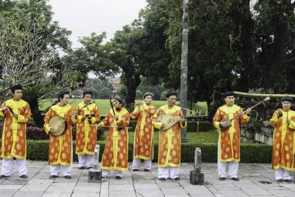 Traditional music played inside the Imperial city