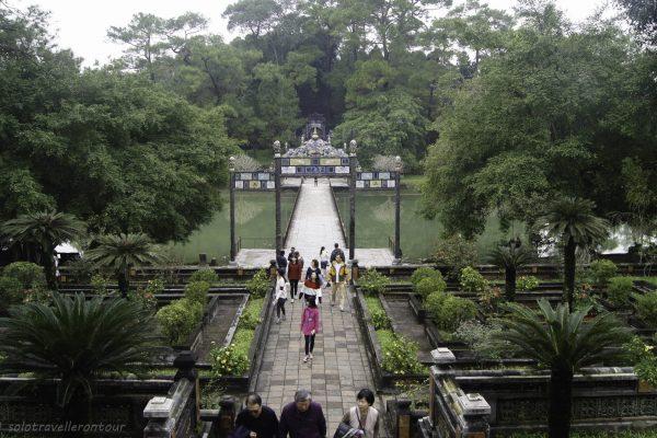 View towards the grave island at Lang Minh Mang tomb