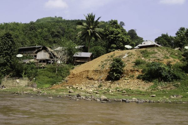 One of the villages along the river