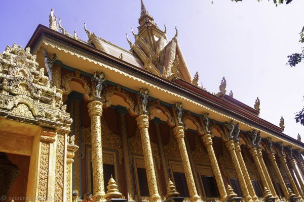 One of the few beautiful Khmer temples we visited