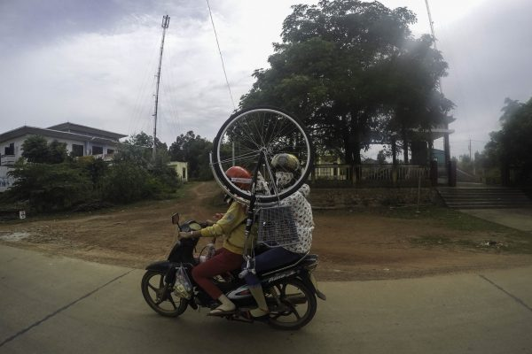 If you get tired cycling use a motorbike instead