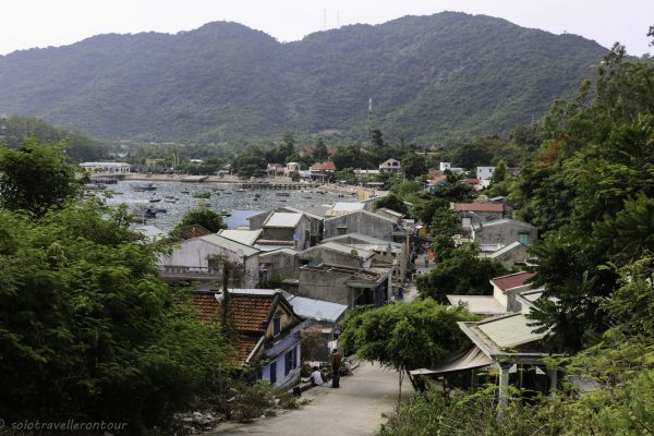 View of Bai Lang village from the hill