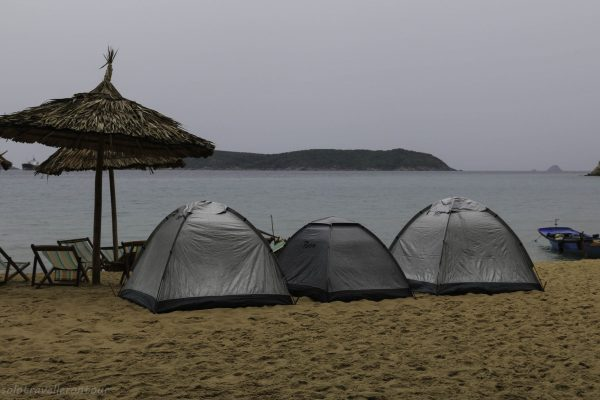 My tent was the small one