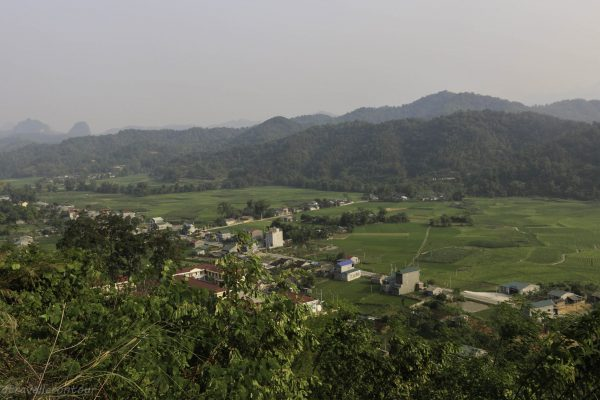 View from the road over the valley