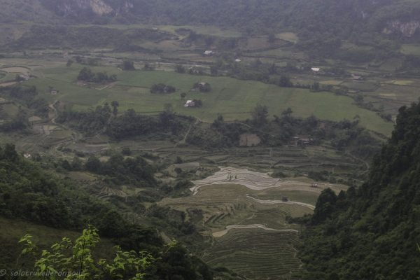 View from the moutain road hugging the slope