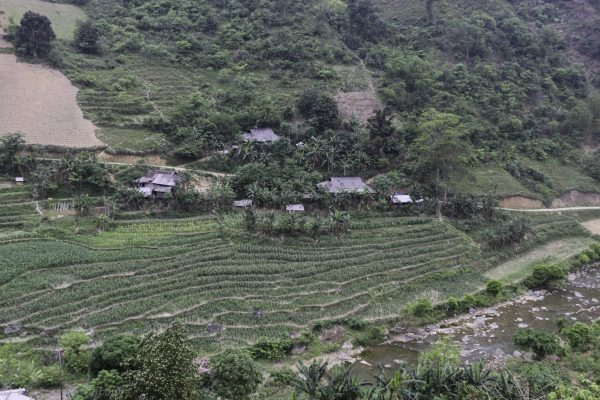 After the peak the area got greener with streams and fields