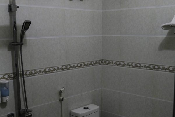 A very luxurious shower in a non toruisty area