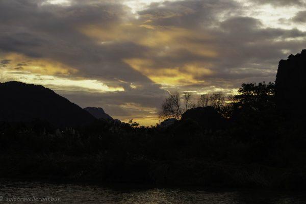 Sunset in Vang Vieng
