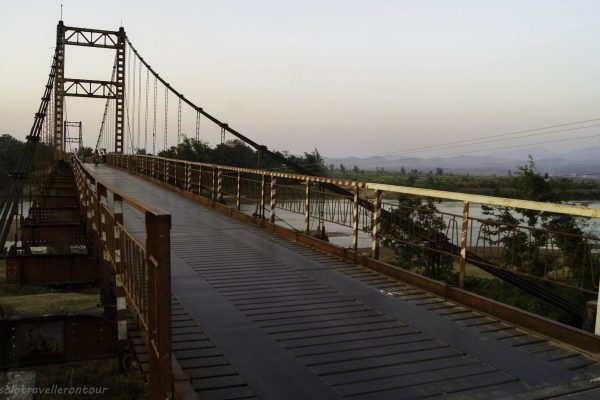 The bridge connecting Kon Tum and the national park