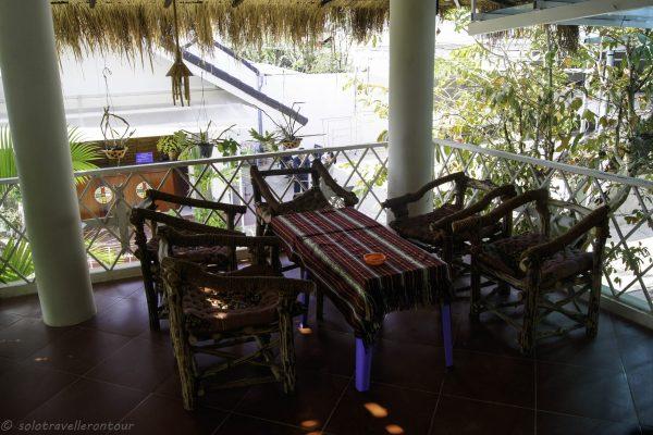 Shared balcony of the hotel