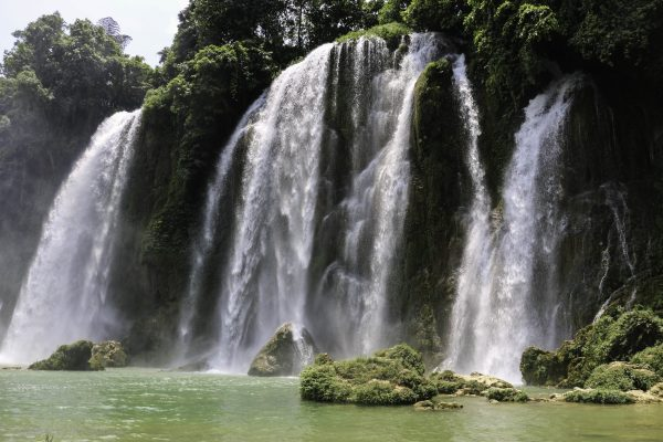 Ban Gioc's smaller falls with a nice pond to cool down