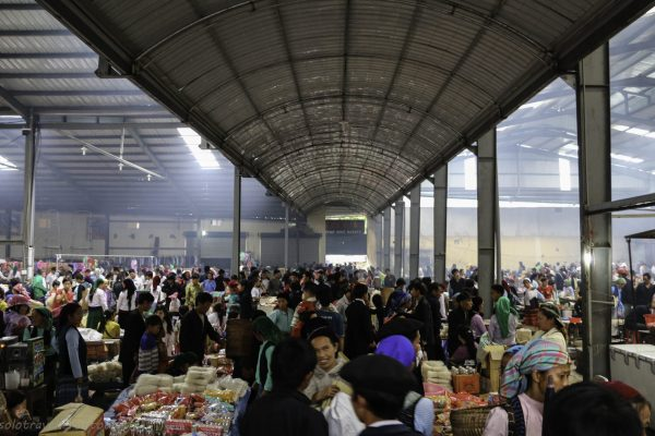 The indoor market got busy durig the rain