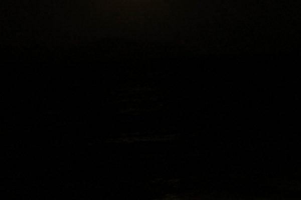 The sea during full moon