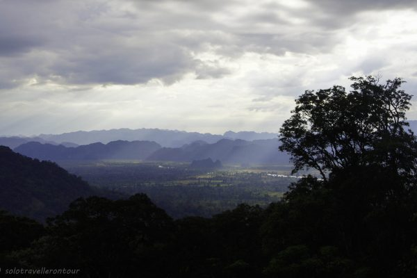 View over the valley of Kong Lo village