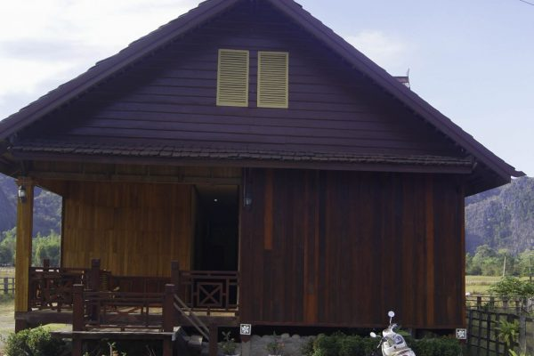 The front of the Xok Xay Guesthouse