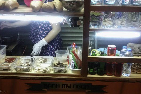 Selection at the great Banh Mi cart