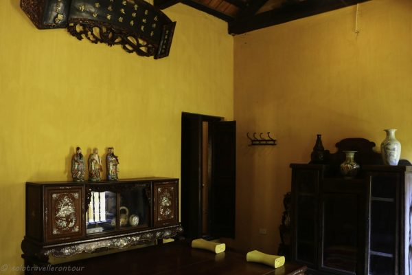 Upstair room of the heritage house