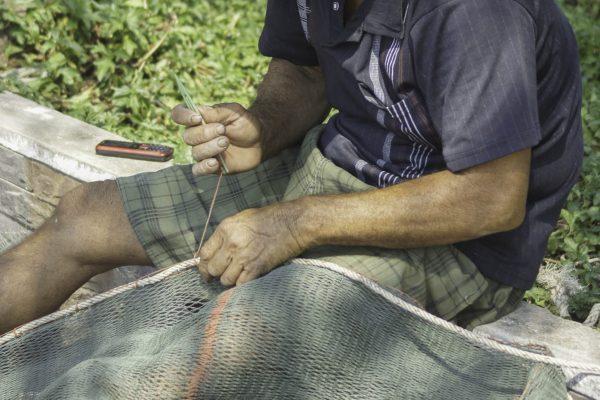 Repairing the fishing net