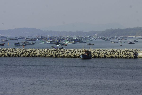 Just a few fishing boats waiting for the night