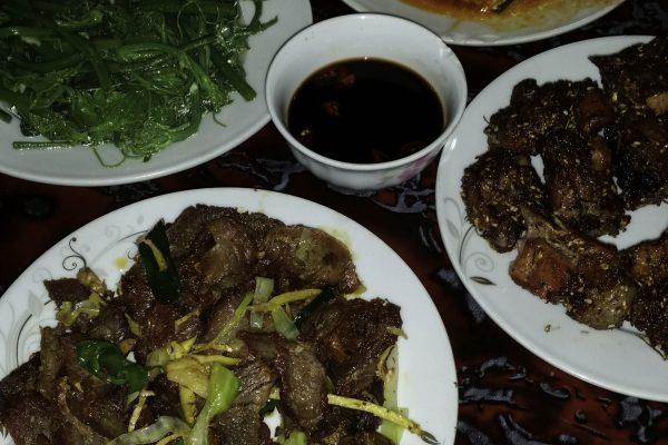 Dinner in Dong Van - it was good as it looks