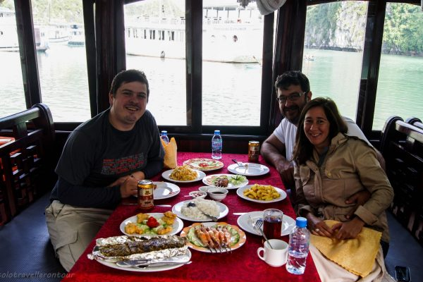 Food served on the day boats