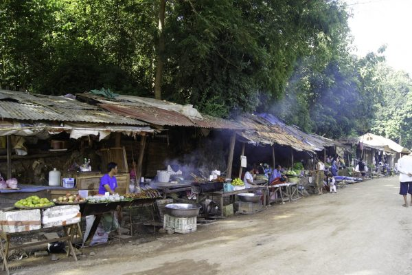 Food stalls near the pier