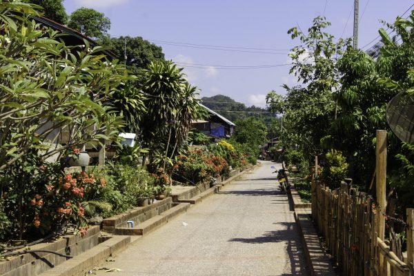 The little street of Xieng Men Village