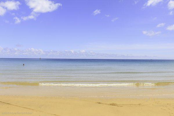 Dam Trau Beach and the clear blue sea