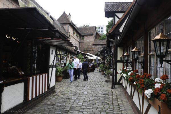 Little cobbled steet inside the Handwerkerhof