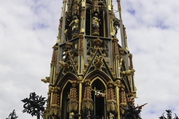 The beautiful replica of a 14th centruy fountain
