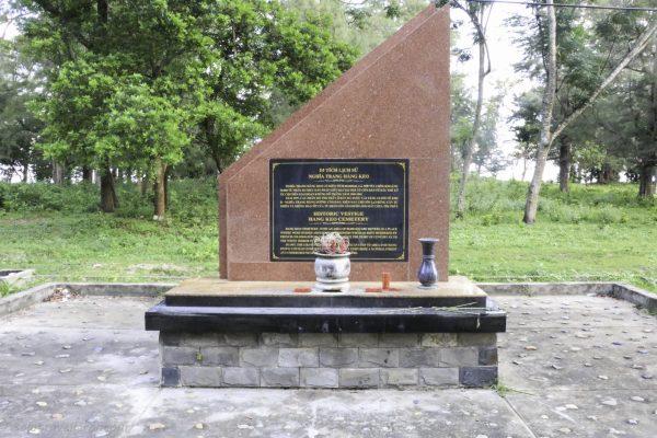 A memorial just outside Con Son village