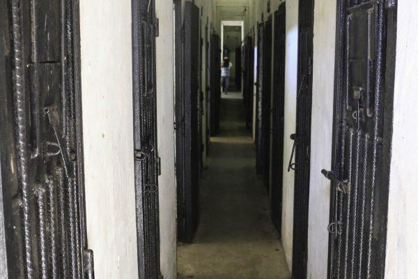 Hallway of Trai Phu Binh prison
