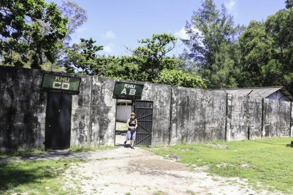 Walls dividing prison sections