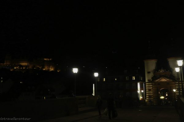 The Old Town and castle by night