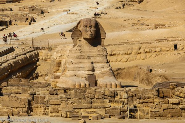 The magnificent Sphinx from some distance